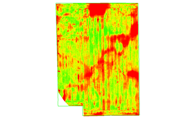 Complete NDVI map from field.