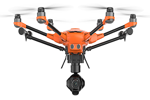 Yuneec H520 - Max. Flight time (minutes): 28 minutesMax. Speed (mph): 38 mphWeight With Battery and Prop (lbs): 3.6 lbsBattery Type and Capacity (mAh): LiPo, 5250Swappable Camera: YesSupported Cameras/Sensors:E90, CGOET, E50