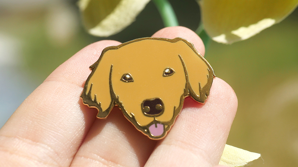 This super adorable dog pin is a great accessory for any pin pet and dog lover out there! Funded via Kickstarter, the Good Dogs: Enamel Pin Collection unlocked 5 pins: Border Collie, German Shepherd, Golden Retriever, Beagle and Corgi.