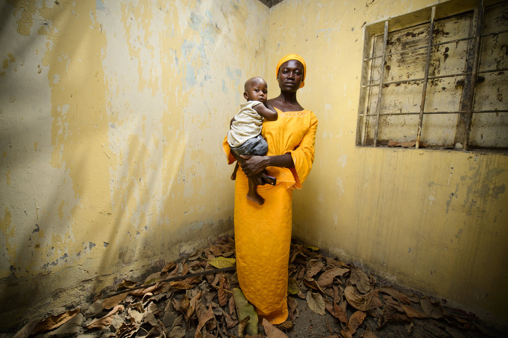 Elizabeth Abana. Her daughter Blessing was rescued from Boko Haram in October 2016.  Photo credit:  Murtala Muhammed Foundation