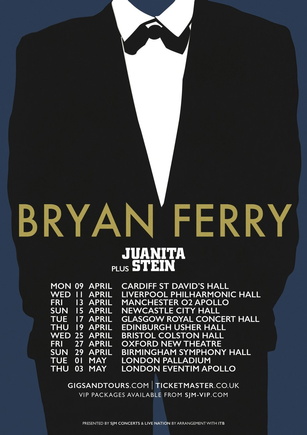 GOING ON TOUR W/BRYAN FERRY!!!💥 . Gonna be extra special, playing theatres throughout the UK and Ireland.  See poster for dates.  See ya there!!!