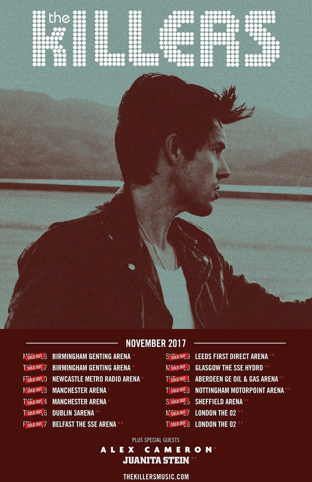 No biggy…….just supporting these guys on their MEGA UK/IRE Arena Tour this November!!! You can catch me from Dublin - London! Can't wait!