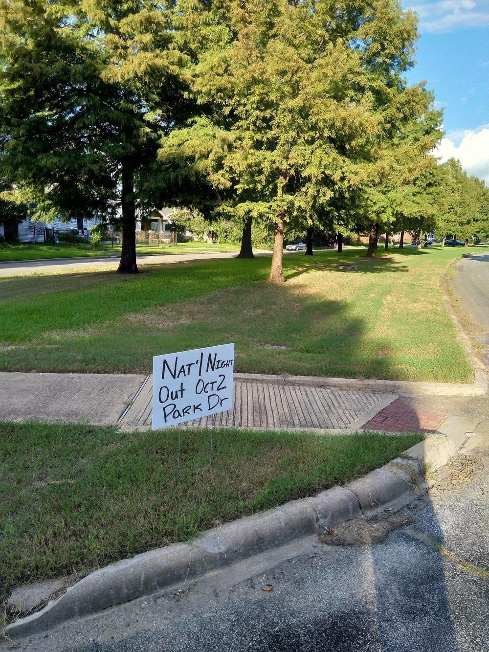"""Repurposed """"We Buy Houses"""" sign in Eastwood."""
