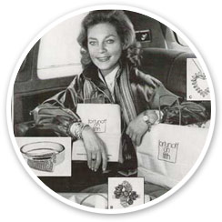 Lauren Bacall in Fortunoff Advertisement