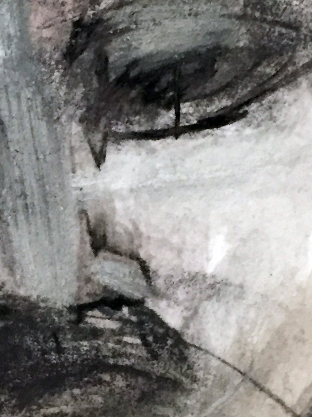 STUDY [DETAIL]   graphite, acrylic, paper