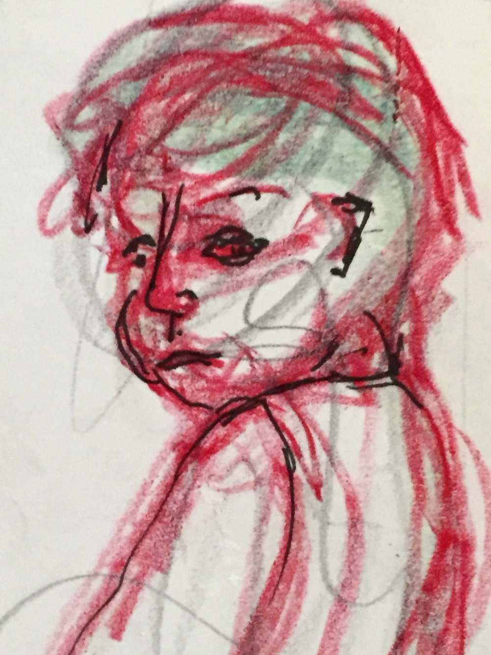 STUDY   crayon, sharpie, paper