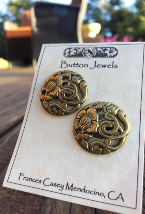 Frances Casey's Button Earrings