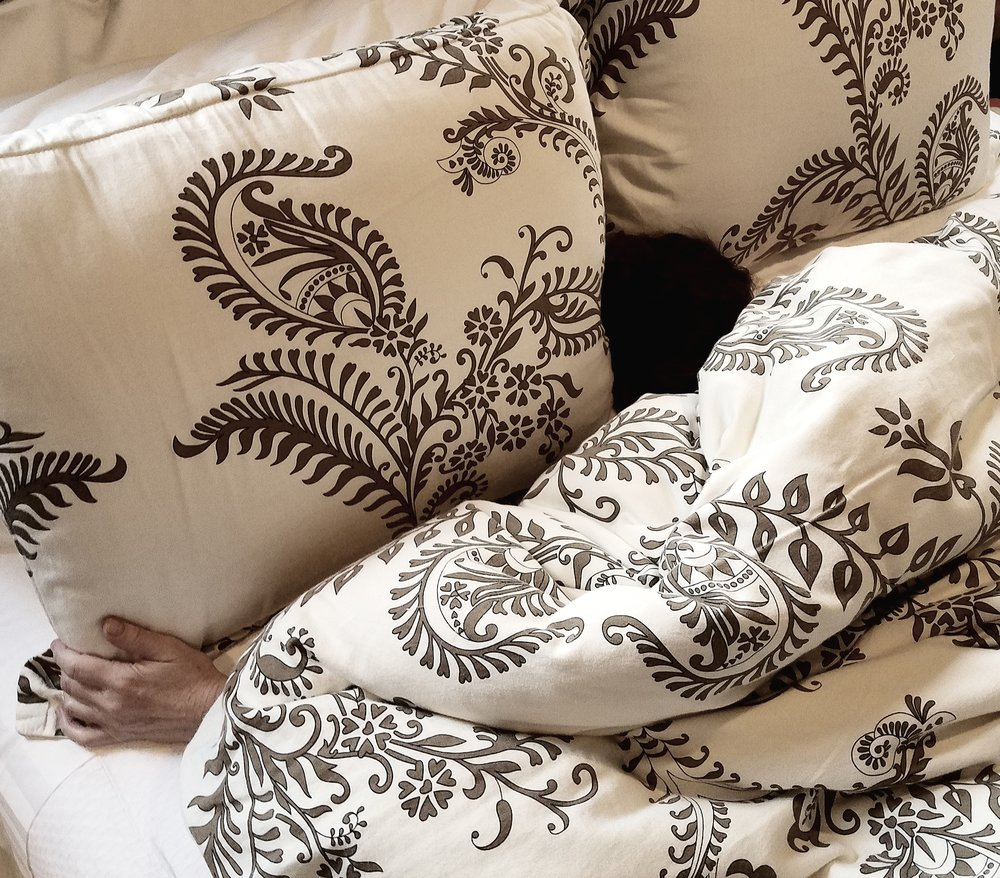 luxurious pillows and comforter