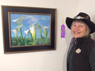 Suzi wins at the art show!
