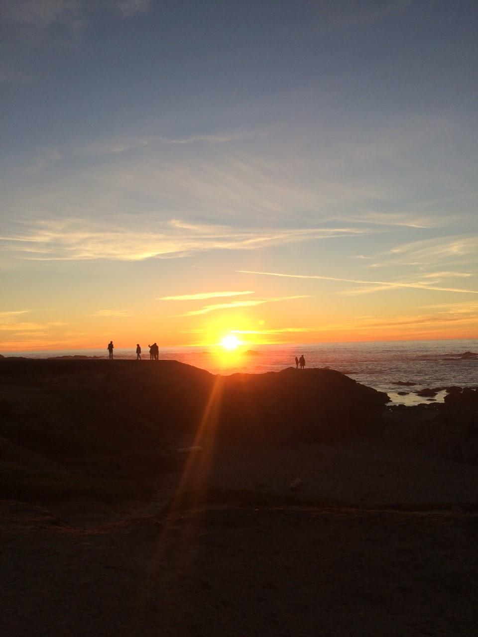 Sunset on the Noyo Headlands