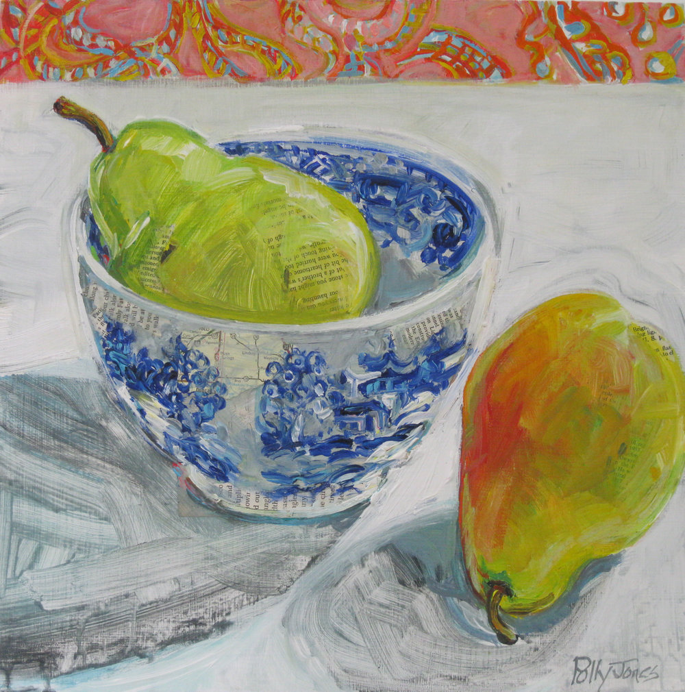 BLUE WILLOW PEAR
