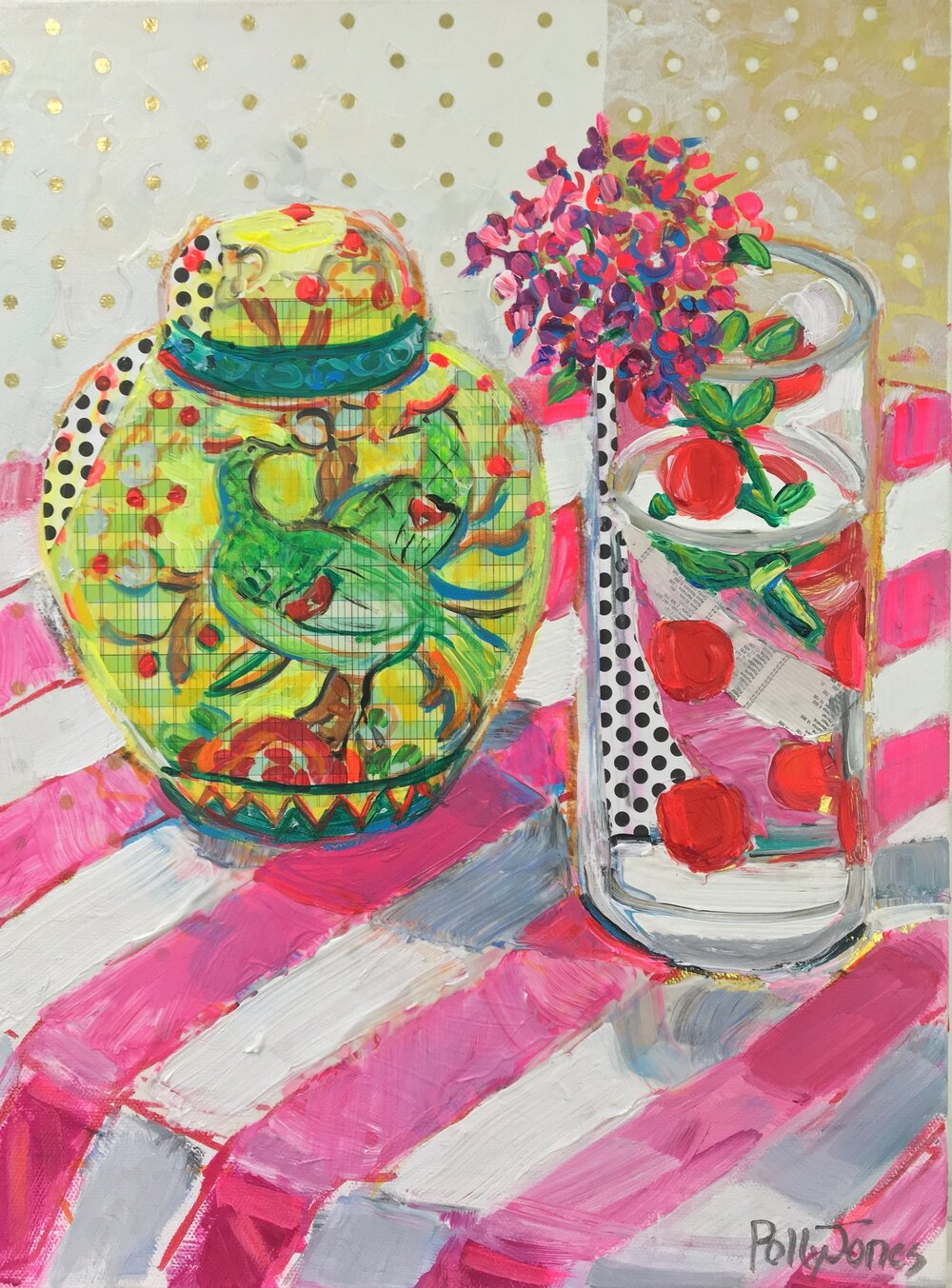 Still Life with Dotted Glass
