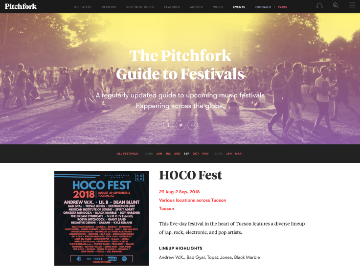 Pitchfork - The Pitchfork Guide to Festivals