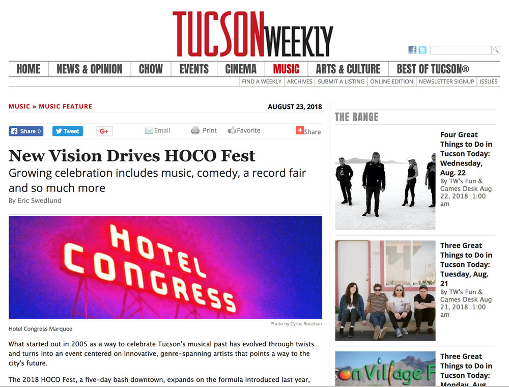 Tucson Weekly - New Vision Drives HOCO Fest