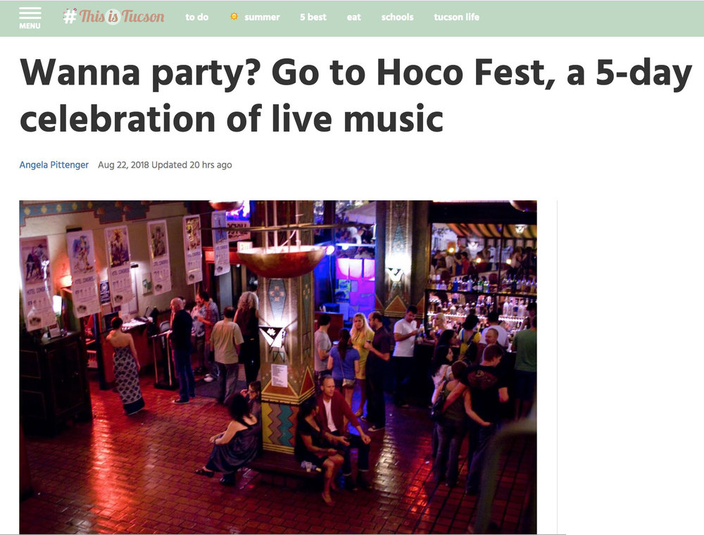 This Is Tucson - Wanna party? Go to HOCO Fest, a 5-day celebration of live music