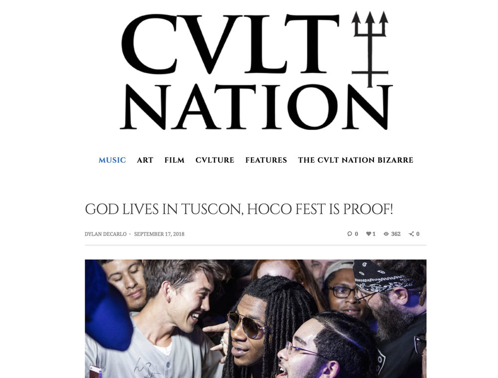 CVLT Nation - God lives in Tucson, HOCO Fest is Proof!