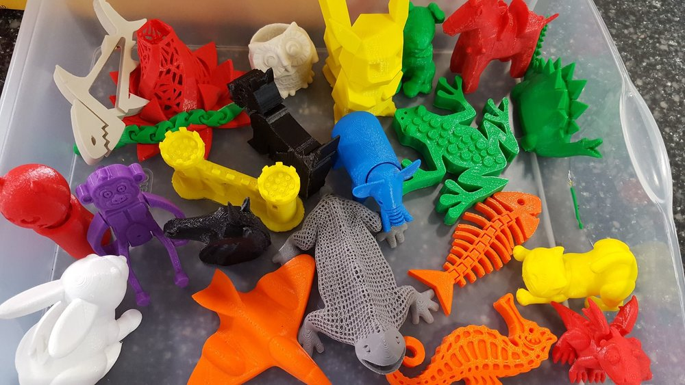 3-D animals and toys
