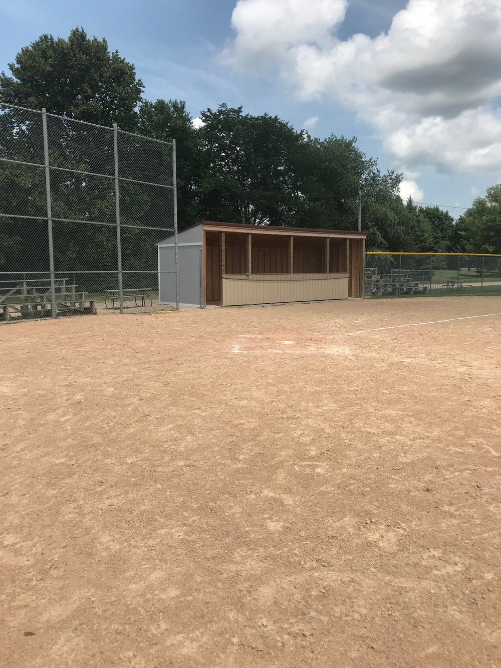 New dugout at Legion Field.