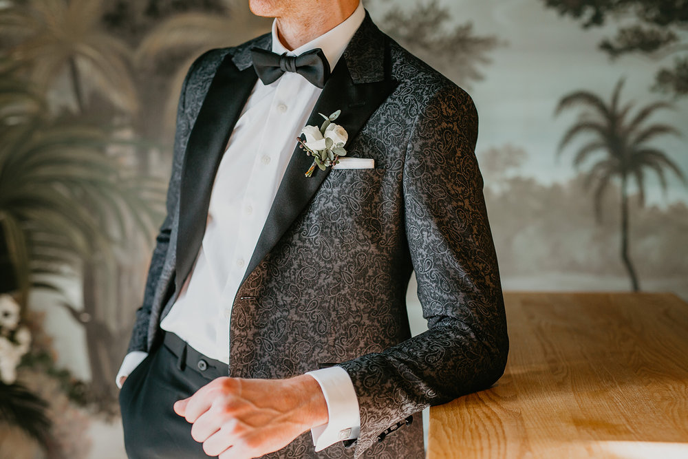 calgary groom dapper tux and Boutonniere
