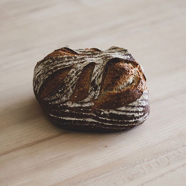 The Ancient Grain Bread is one of our newer loaves. We mill our own flour and create a blend of ancient grains including kamut, quinoa, teff, sorghum, and millet combined with our levain. The flavor profile is nutty and soft, and is incredibly versatile! #rusticabakery #ancientgrain #mplsbakery #bakedfreshdaily