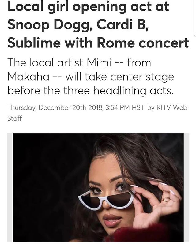 BLESSED 🙏🏽 #teamMiMi #mimigocrazy #cnotegang #blessed #cardib #snoopdog #hawaii