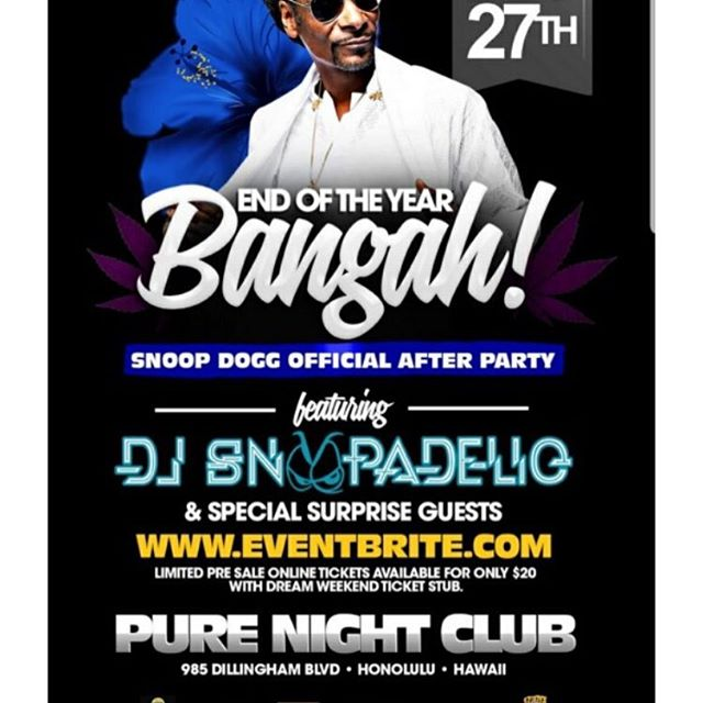 Who's coming @snoopdogg after party