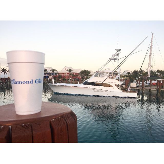 Not only is the Diamond Girl lots of fun offshore, you can have a blast at the dock with cocktails too! Come join us. Bottoms up!  #bottomsup #cocktailsonthedock #diamondgirl #thediamondgirl #sportfishing #sportfishingboat