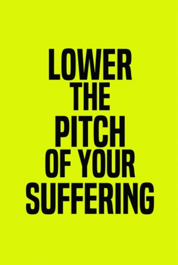 Kameelah Janan Rasheed, Lower the Pitch of Your Suffering from How to Suffer Politely (And Other Eti-quette), 2014, Archival inkjet print (Courtesy of the artist)
