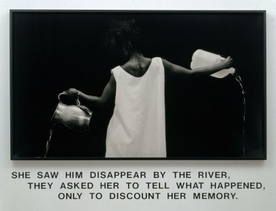 Lorna Simpson (American, born 1960). 'Waterbearer,' 1986. Courtesy of Lorna Simpson. © 1986 Lorna Simpson