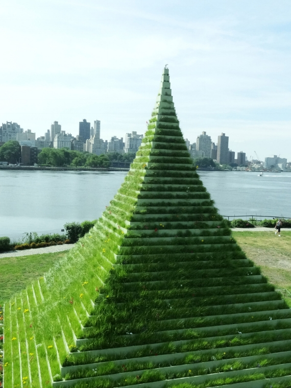 The Living Pyramid by Agnes Denes, at 2016 grantee organization Socrates Sculpture Park.