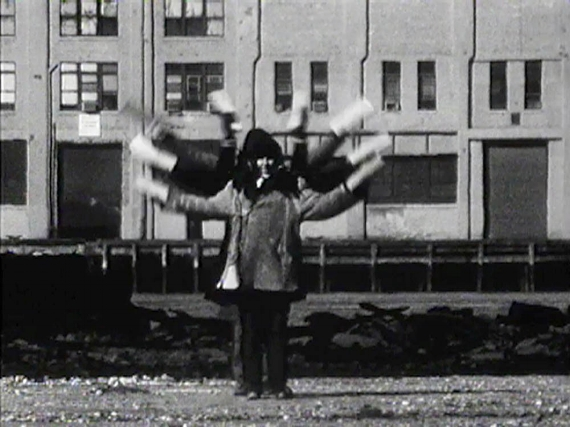 Joan Jonas. Still from  Songdelay , 1973, 16mm film. Courtesy of Electronic Arts Intermix.