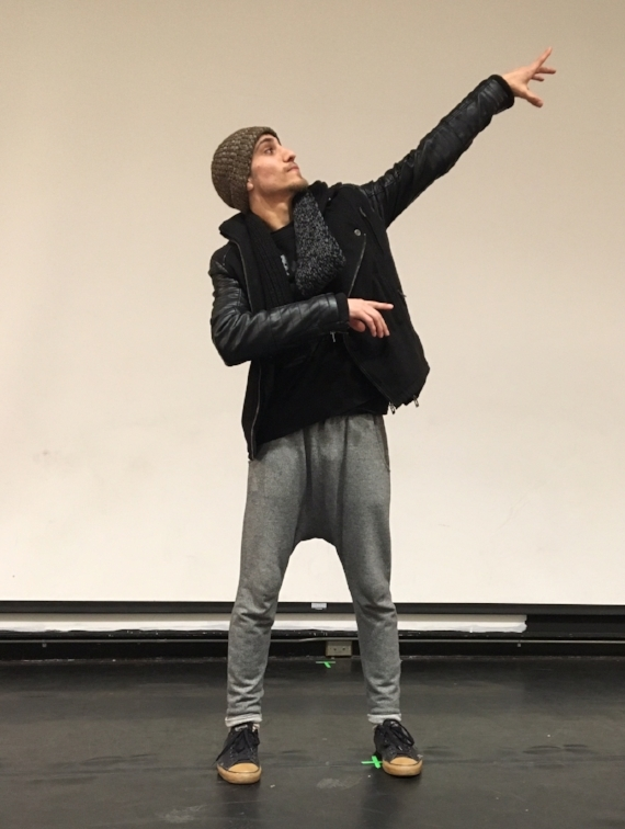 Smko performing at the NYC High School for Economics and Finance