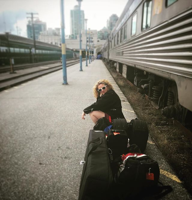 And we're back in #vancouver at the #viarailstation . So much fun, now time for bed. #artistsonboard #musicianslife
