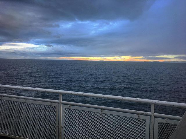 Some #amazingclouds as we make our #wayhome on the ferry. So excited to cuddle up with the cats and sleep in our own bed tonight! #musicianlife #naturephotography #bcferries
