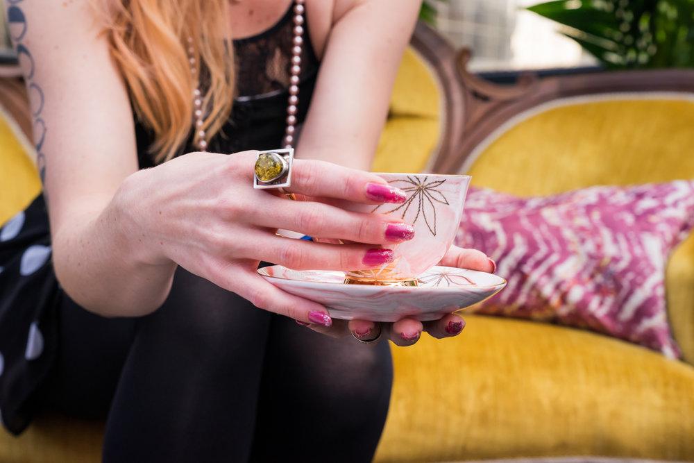 Sip, Savour & Sesh | High Tea | FashionablyHigh.ca tea cup and saucer | Photo:Blüm & Grow