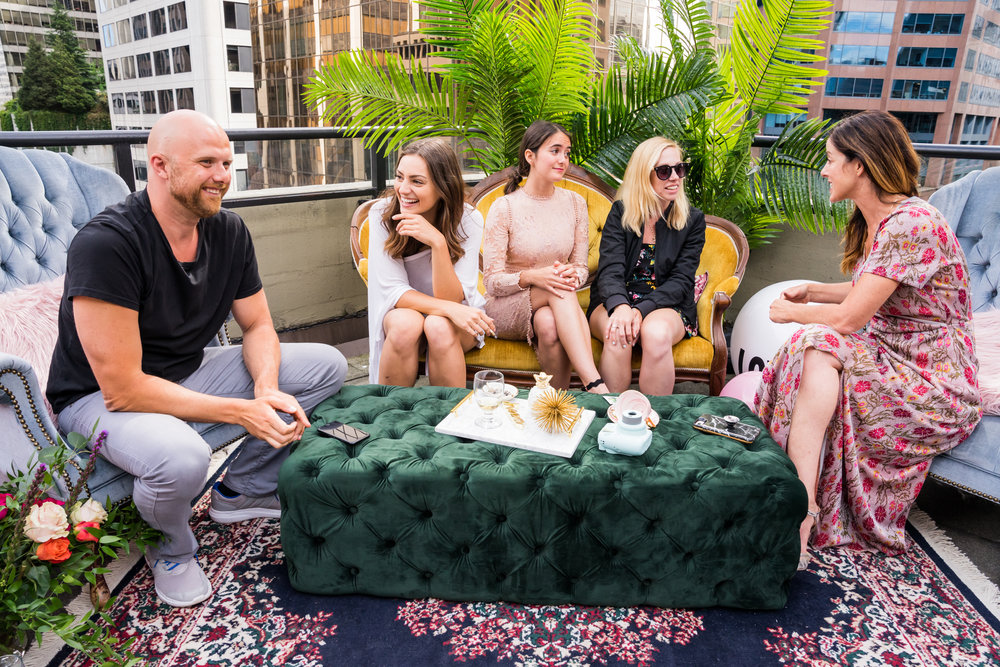 Sip, Savour & Sesh | High Tea | Left to Right: Paul, Pam, Charlotte, Steph, Unity | Photo: Blüm & Grow