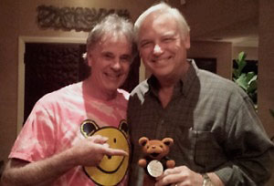 """Jack Canfield - """"You've got a winner here!""""Jack Canfield, co-author of worldwide bestselling series Chicken Soup For the Soul.Tee shirt from U. Cal Berkeley proudly displayed. G0 BEARS!"""