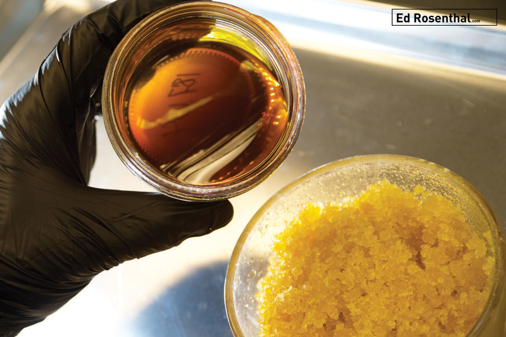 Live Nectar™ consists of terpene-rich sauce covering crystals of raw THCa by  Harmony Extracts .