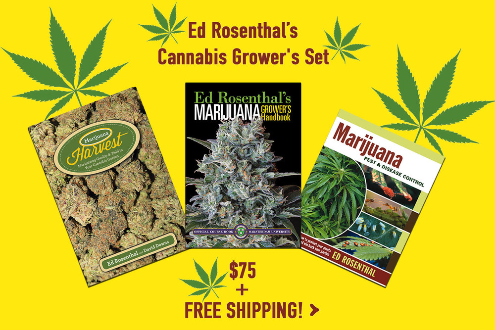 Learn everything you need to know in Ed Rosenthal's Cannabis Grower's Set.