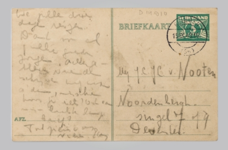 A Last Message from Etty Hillesum   From the collection of the  Jewish Historical Museum , Amsterdam