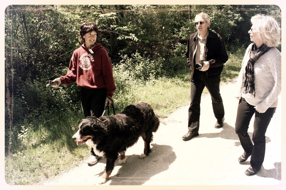 Bob walking outside with dog.jpg