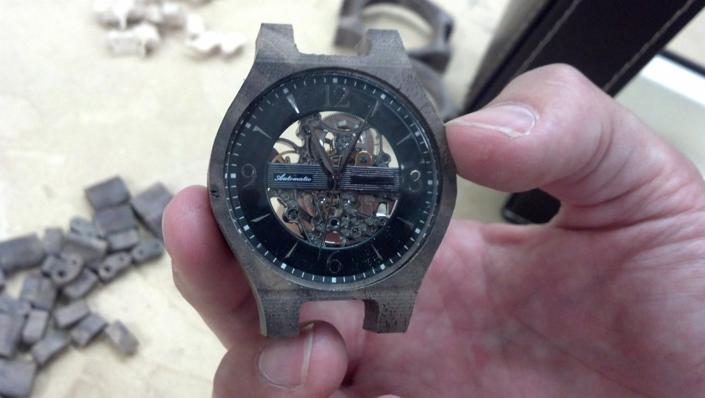 Wood watch prototype