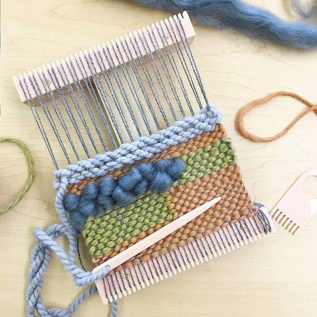 Happy-making. Loving the earthy tones in @Sarah__eichhorn current tapestry #weaving #wip. 😍 . . . . #ontheloom #weaversofinstagram #creativelifehappylife #handmademovement #crafty #wovenwallhanging #loom #weaver #wallhanging #fiberart #makersgonnamake #craftsposure #calledtobecreative #lovemymakers #abmcrafty #creatorslane #handmadeloves #weaverfever #makesomething #becreative