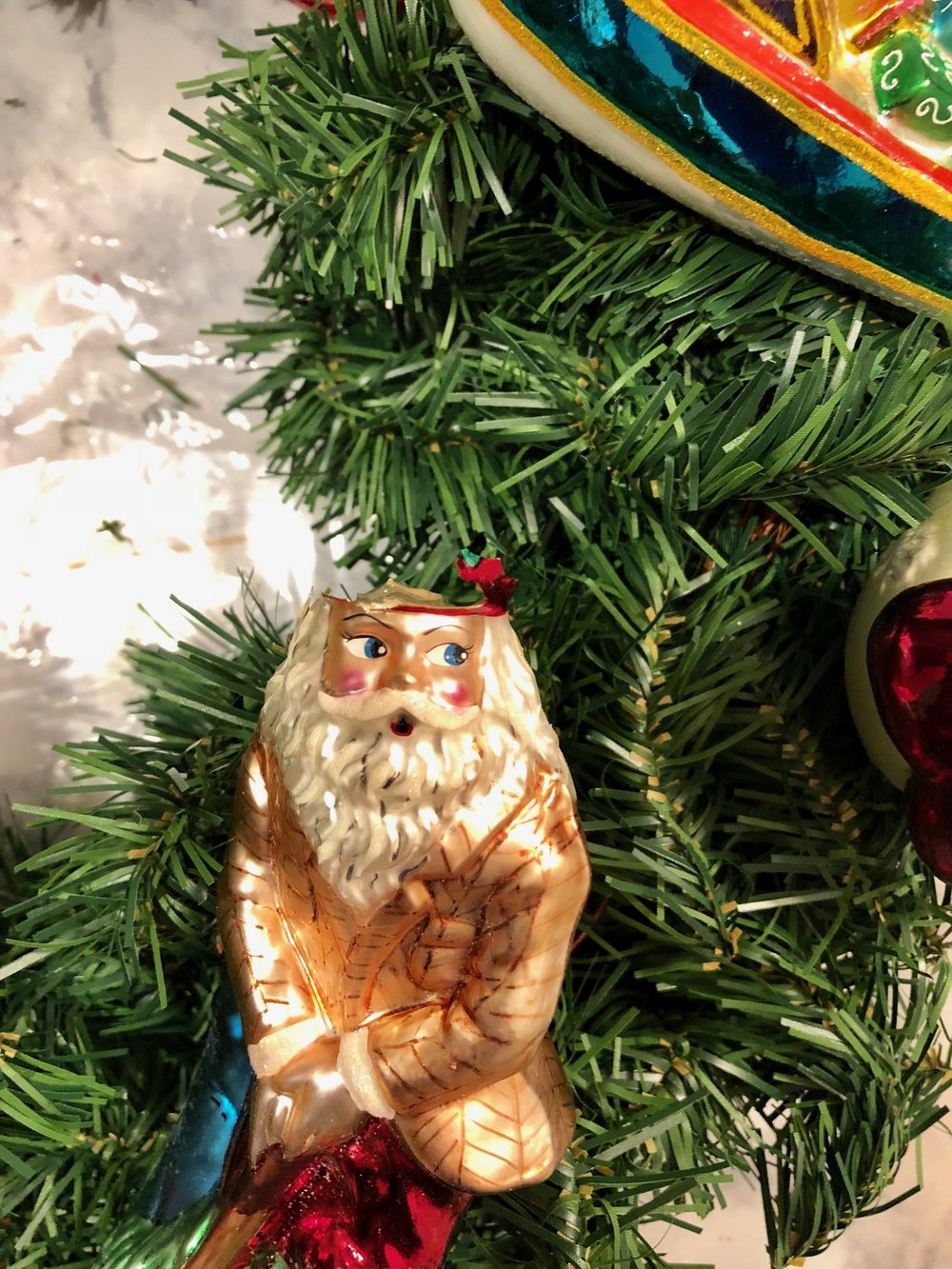 broken ornament wreath