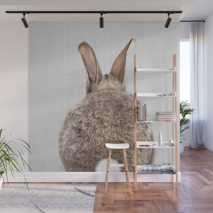 Rabbit Tail - Colorful Wall Mural by Gal Designs available through  Society6