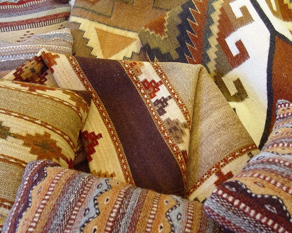 Textiles - Rugs & Pillows, War Shirts, Headdresses & More