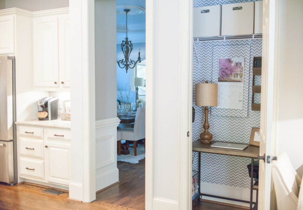 Closet Office in the Kitchen | Sara Lynn Brennan | All Things Home