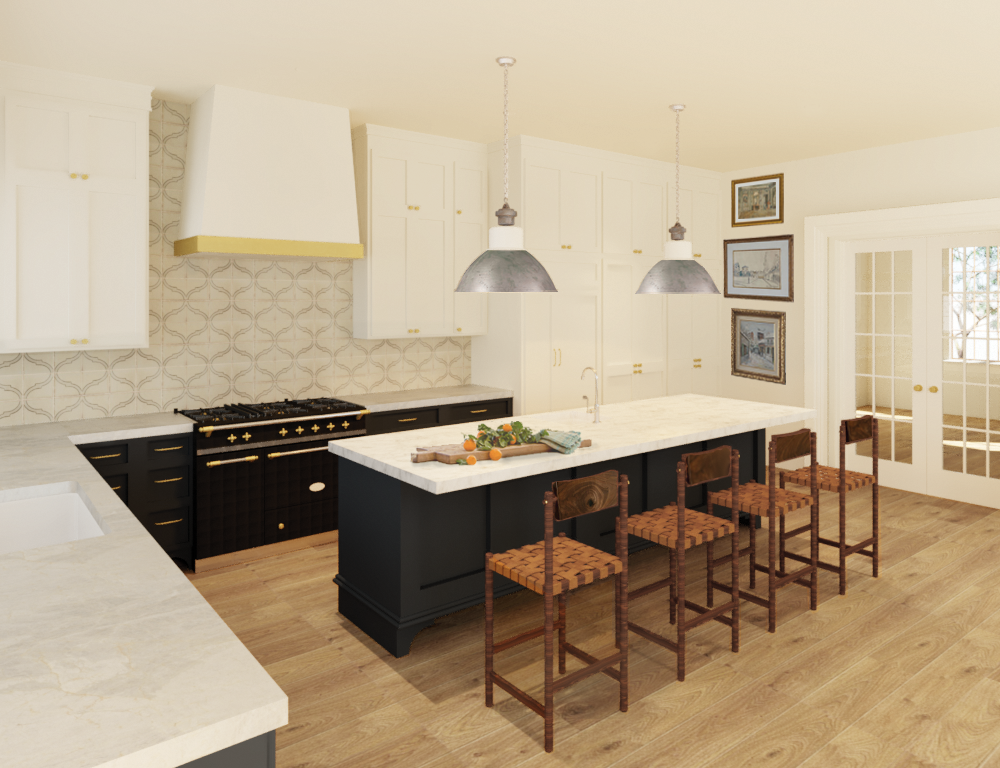 European-Inspired Kitchen