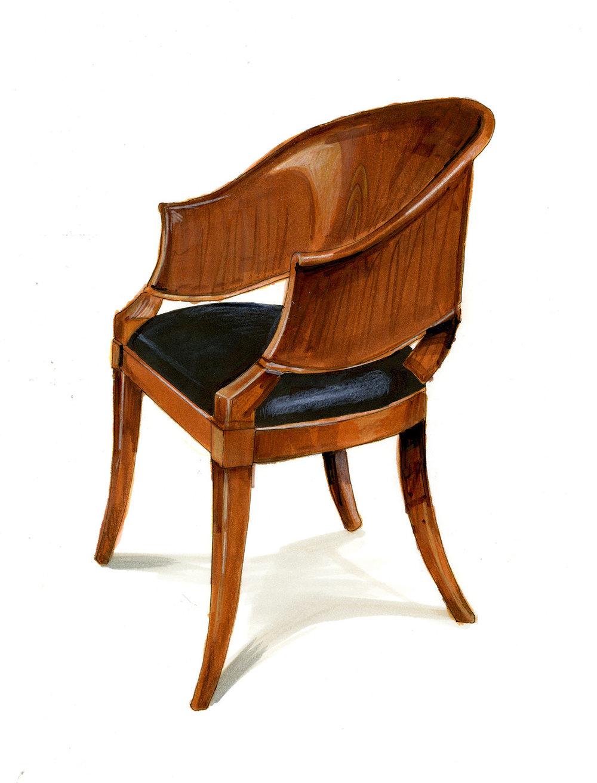 Biedermeier Chair (marker rendering)
