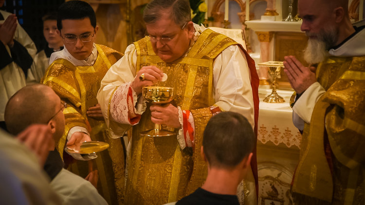 """""""I will never forget this"""" - Cardinal Burke - on the occasion of offering Mass at the Carmel of JMJ"""